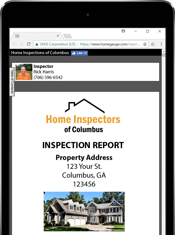 Homegauge Digital Inspection Report